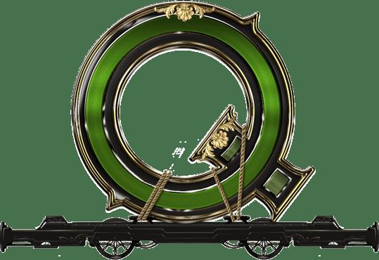 Wild Rails video slot - Q symbol