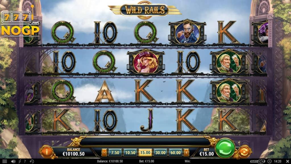 Wild Rails video slot screenshot