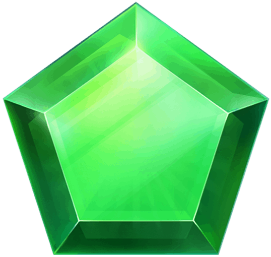 Cashomatic video slot - Green gem symbol