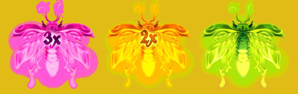 Firefly Frenzy video slot - Wild symbolen