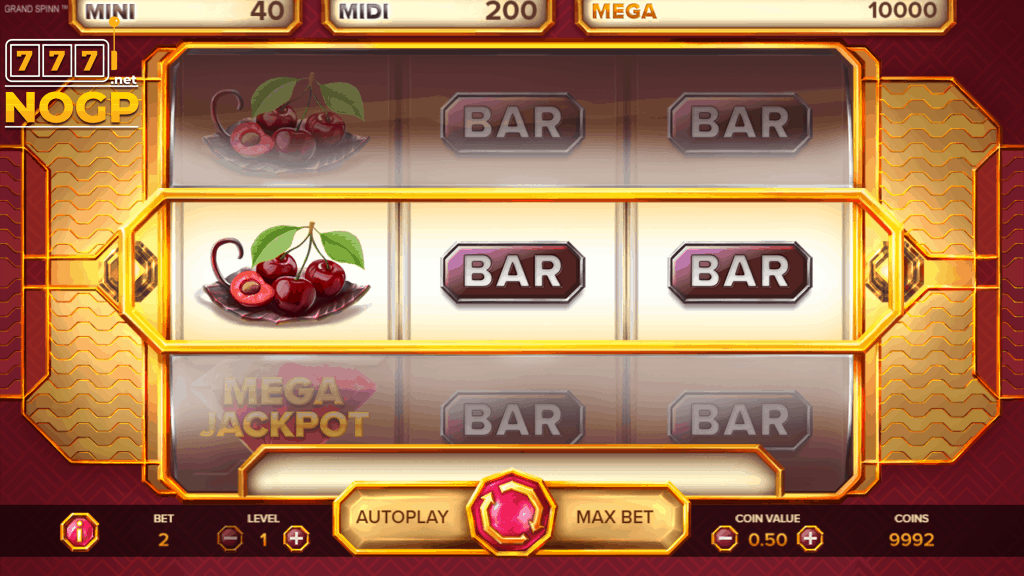 Grand Spinn video slot screenshot