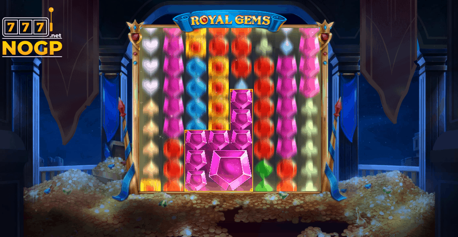 Royal Gems video slot winning cluster