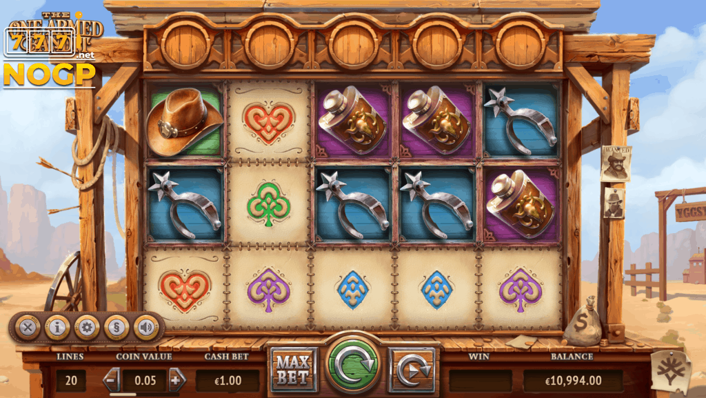 The One Armed Bandit video slot screenshot