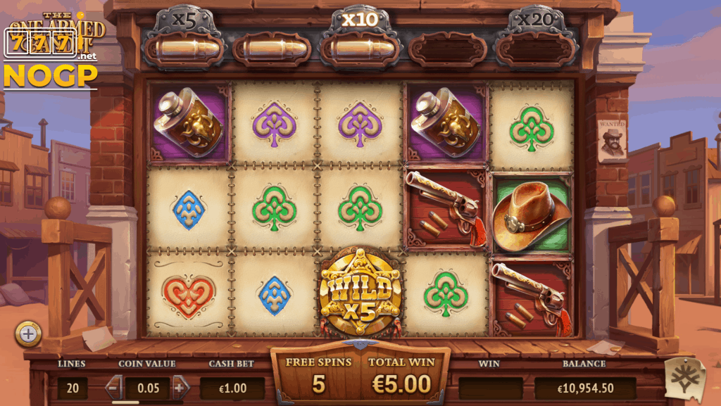 The One Armed Bandit slot - Free spins feature