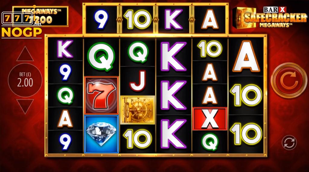 Bar-X Safecracker Megaways video slot screenshot