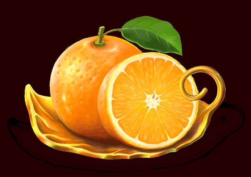 Grand Spinn video slot - Orange symbol