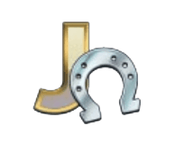 Hugo's Adventure video slot - J symbol