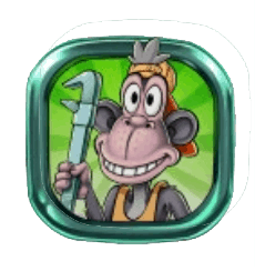 Hugo's Adventure video slot - Monkey Mechanic symbol