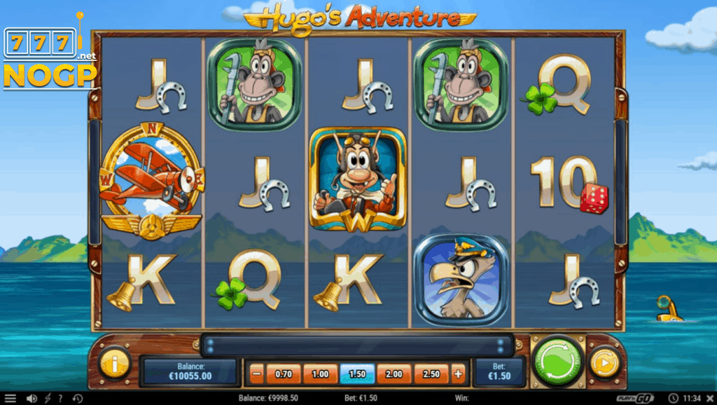 Hugo's Adventure video slot screenshot