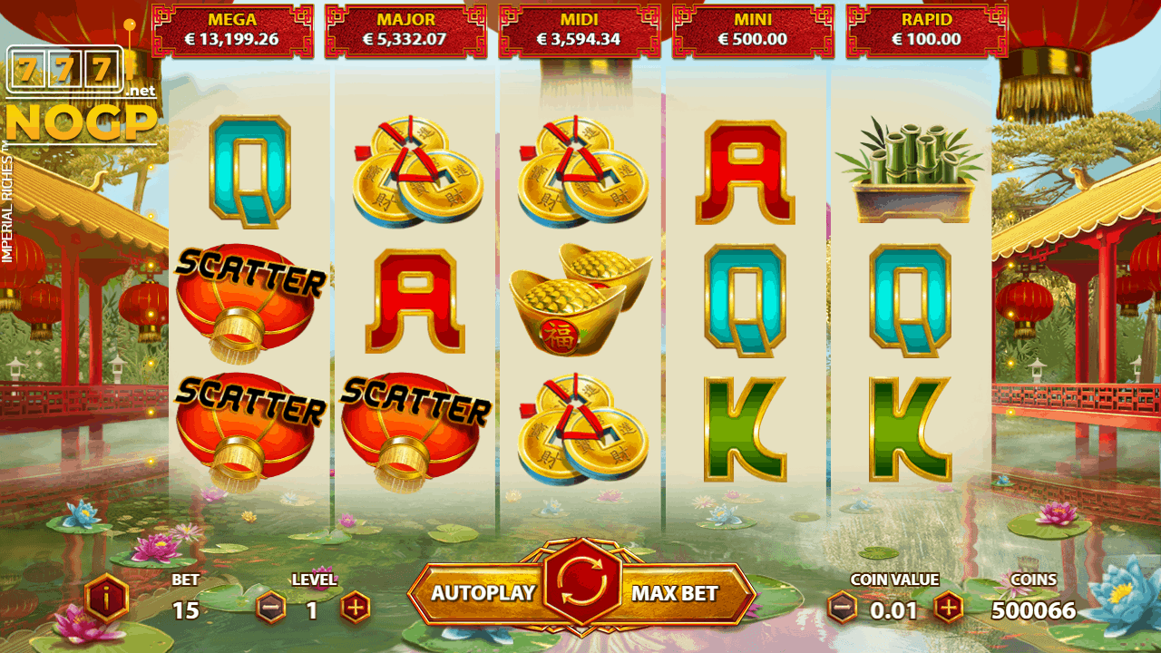 Imperial Riches video slot screenshot