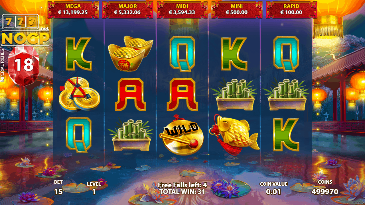 Imperial Riches video slot - Free Falls feature