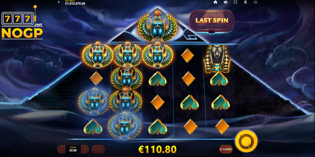 Mega Pyramid video slot - Free spins feature