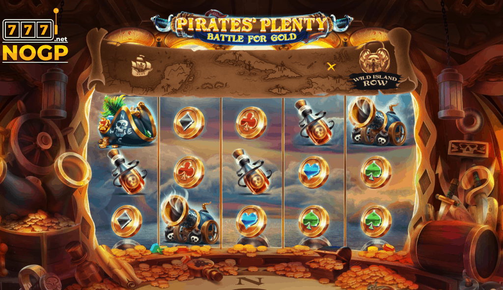 Pirates' Plenty Battle for Gold video slot screenshot