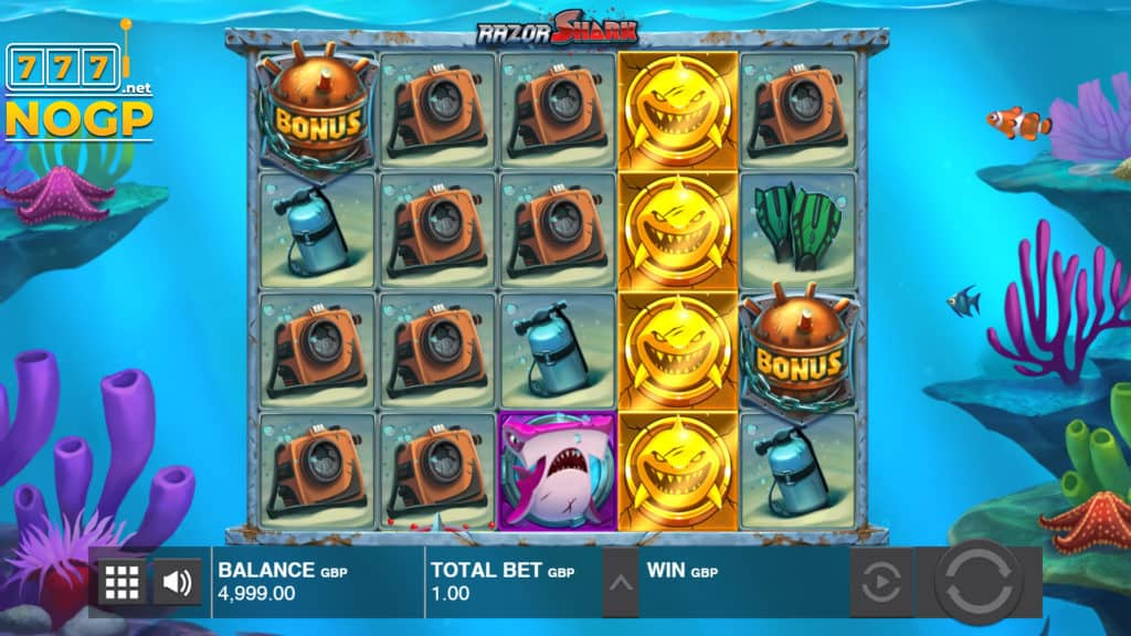 Razor Shark video slot screenshot