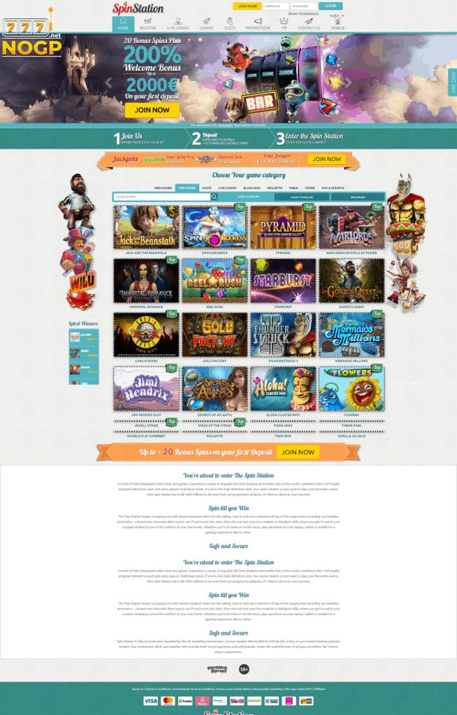 Spin Station Casino screenshot