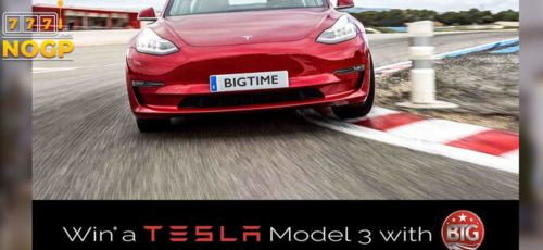 Big Time Gaming's Giveaway: win a Tesla Model 3