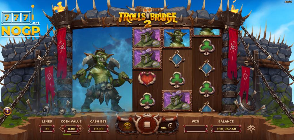 Trolls Bridge 2 video slot screenshot