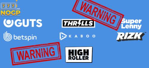 Waarschuwing voor Gaming Innovationg Group brands
