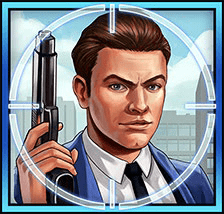 Mission Cash video slot - Blue Agent symbol