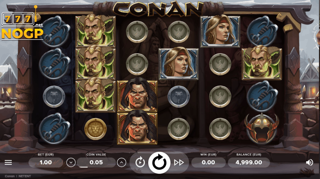 Conan video slot screenshot