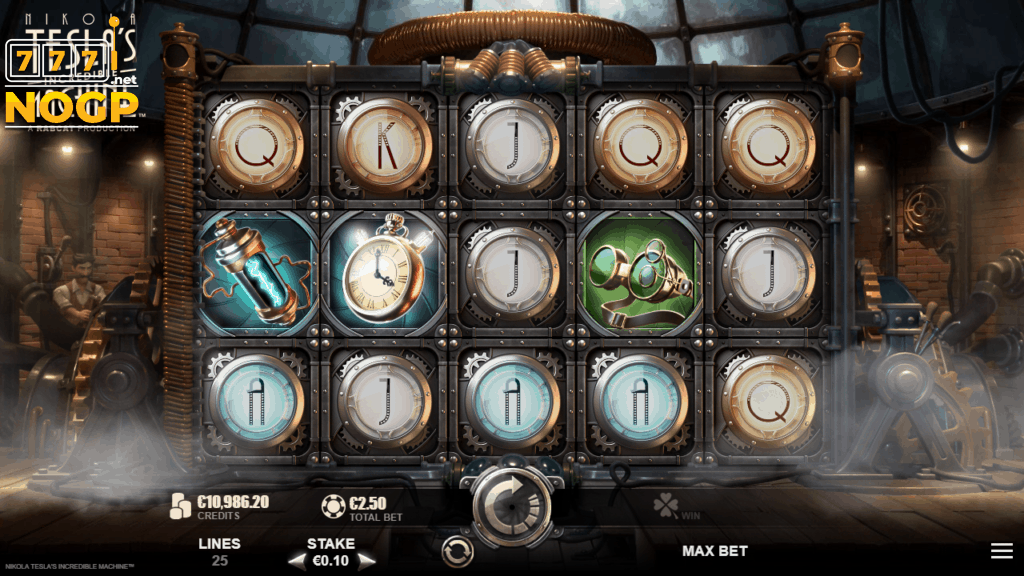 Nikola Tesla's Incredible Machine video slot screenshot