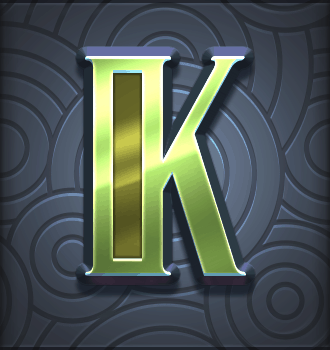 Riders of the Storm video slot - K symbol