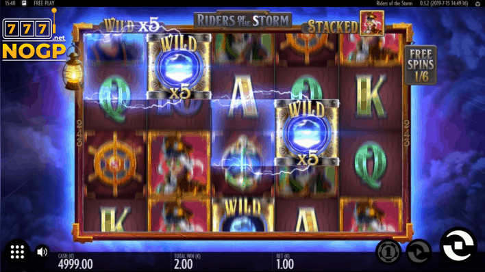 Riders of the Storm video slot - Walking wild feature