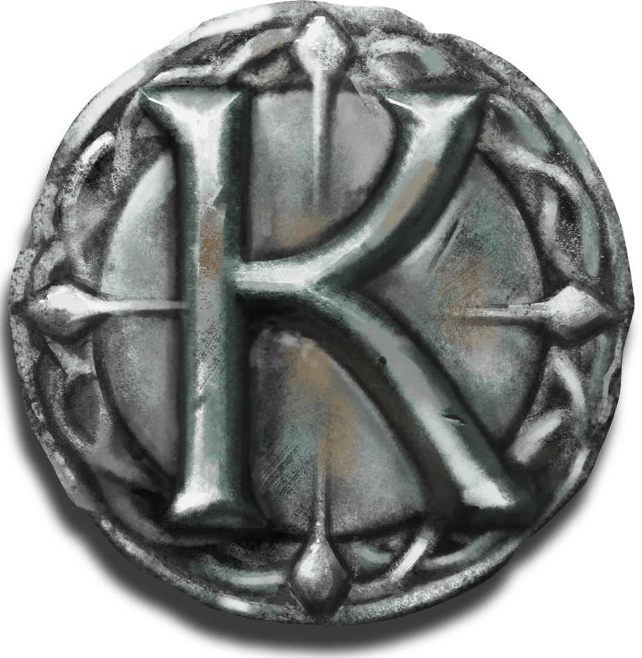 The Sword and the Grail video slot - K symbol