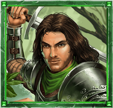The Sword and the Grail video slot - Lancelot symbol