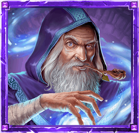 The Sword and the Grail video slot - Merlin symbol