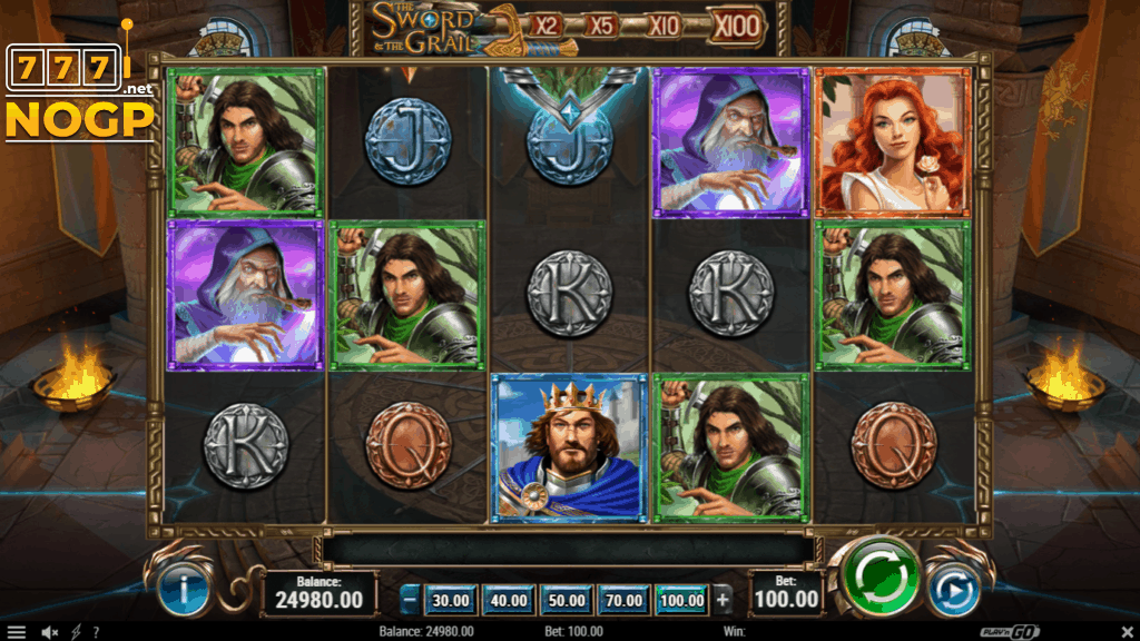 The Sword and the Grail slot - screenshot