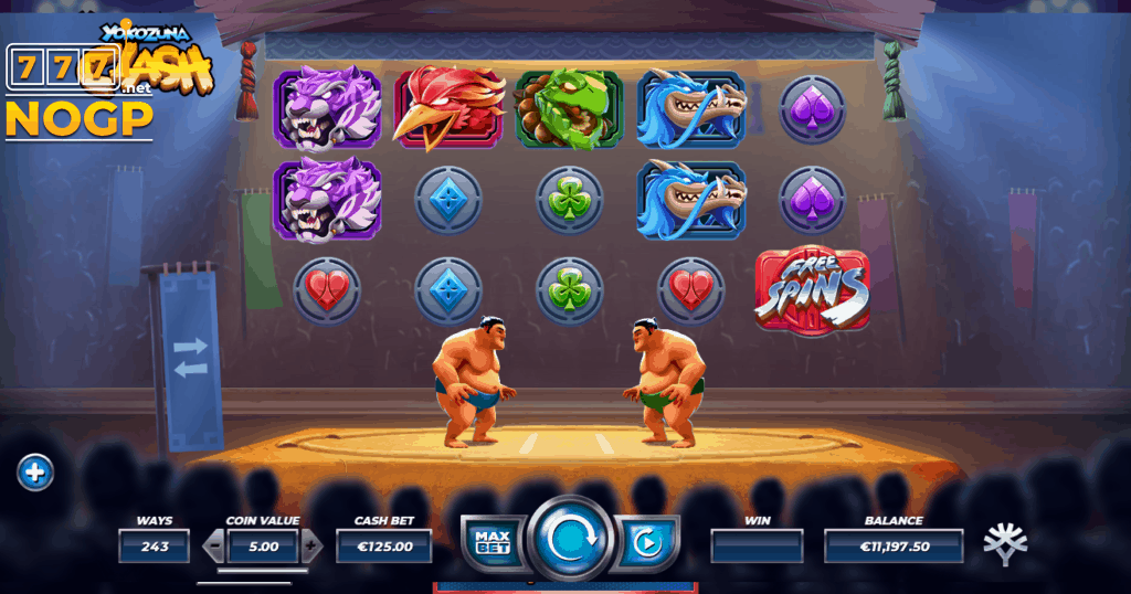 Yokozuna Clash video slot basic game