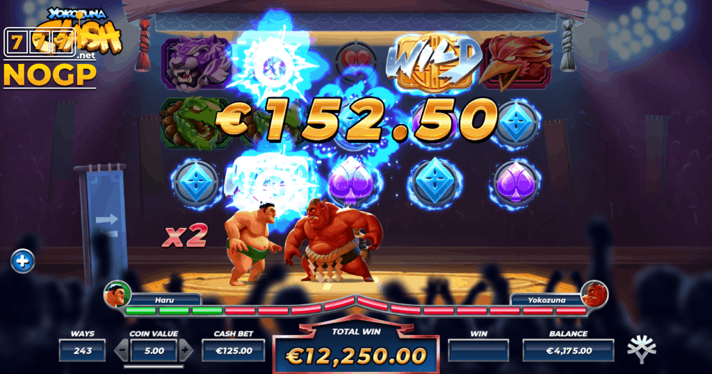 Yokozuna Clash's Tournament Free Spins feature