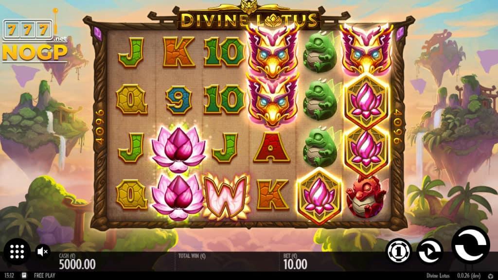 Divine Lotus video slot screenshot