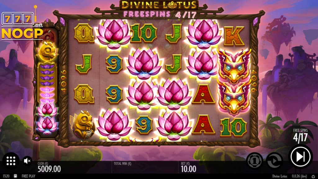 Divine Lotus video slot free spins feature
