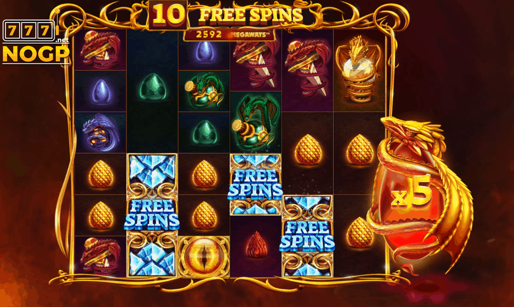 Dragon's Fire megaways free spins feature