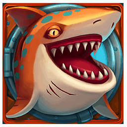 Razor Shark video slot - Orange Shark symbol