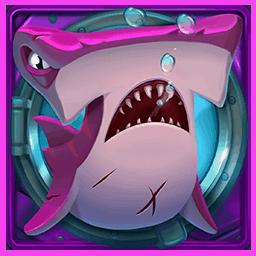 Razor Shark video slot - Purple shark symbol
