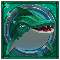 Razor Shark video slot - Green shark symbol