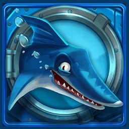 Razor Shark video slot - Blue shark symbol