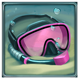 Razor Shark video slot - Diving mask symbol