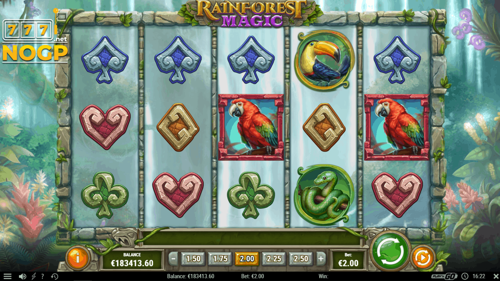 Rainforest Magic video slot screenshot