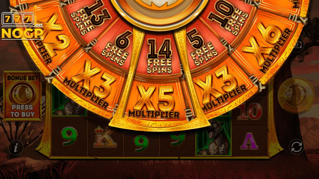 Safari Gold Megaways bonus wheel