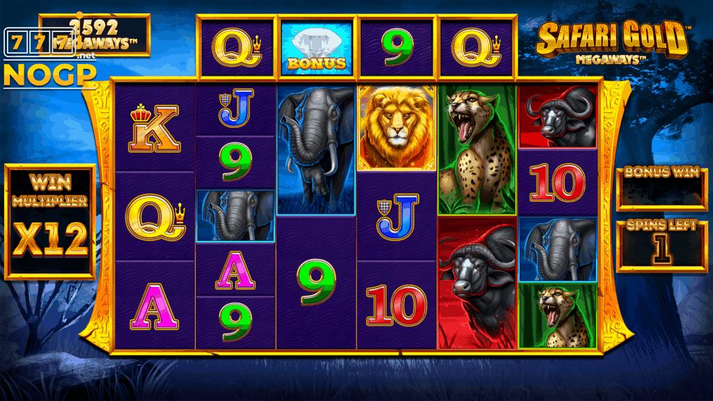 Safari Gold Megaways video slot - free spins feature