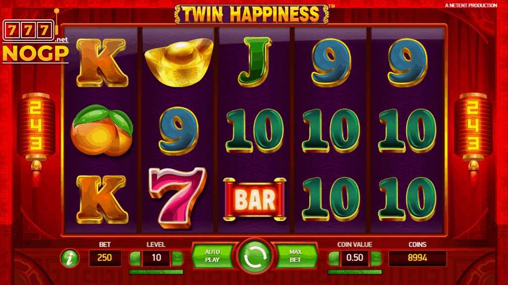 Twin Happiness video slot screenshot