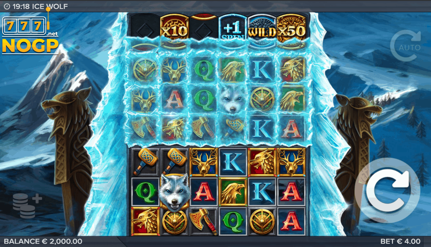 Ice Wolf video slot screenshot