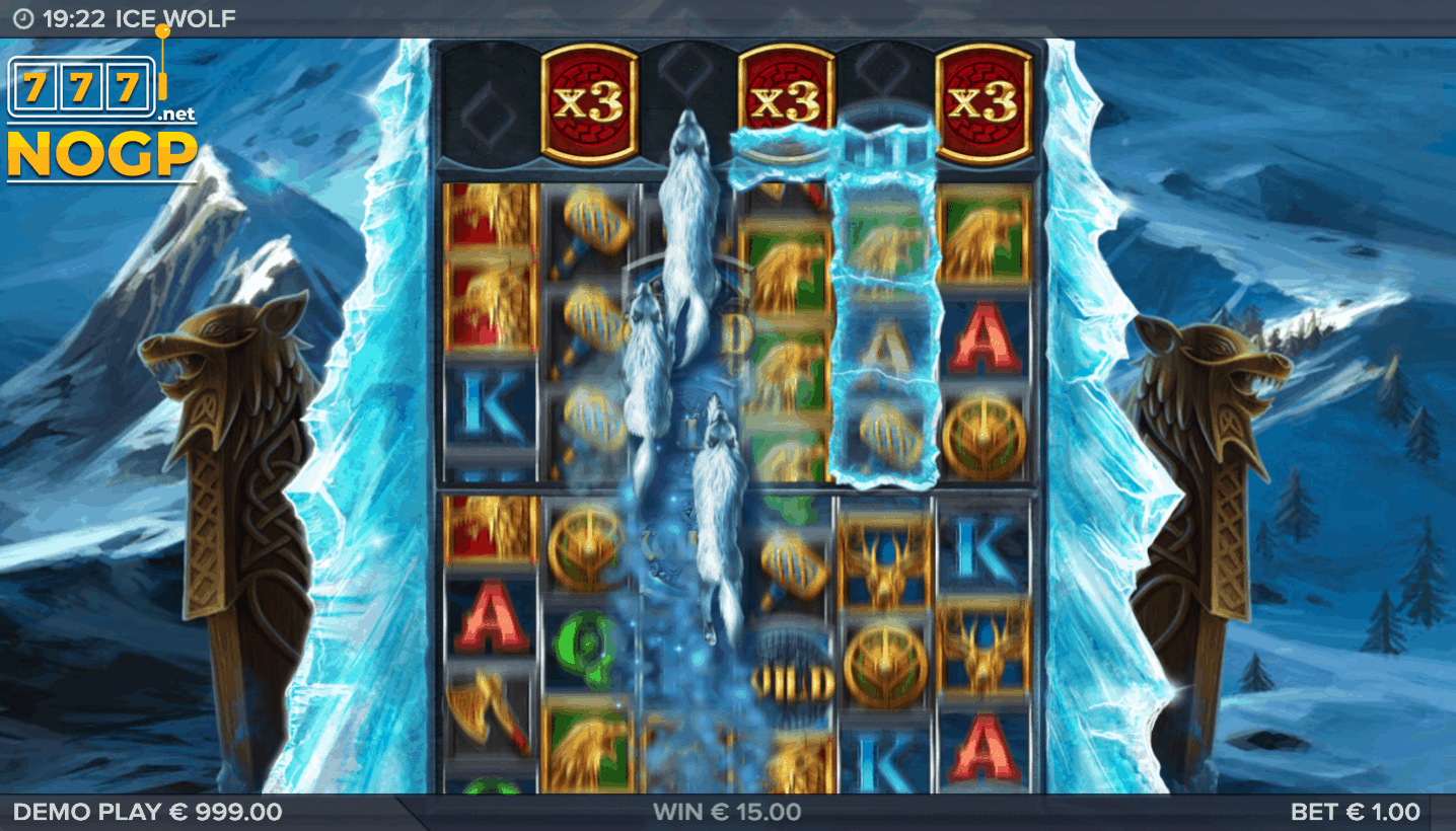 Ice Wolf video slot - Wolfpack feature
