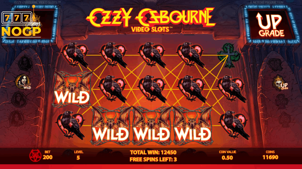Ozzy Osbourne slot - Free spins feature