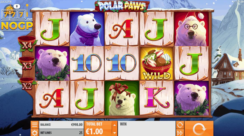 Polar Paws video slot screenshot