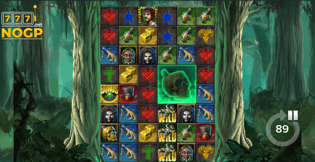 Voodoo Gold video slot - Fully expanded